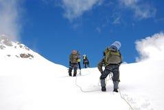 Mountain climbing in Caucasus Royalty Free Stock Photos