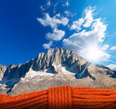 Mountain Climbing Concept Royalty Free Stock Images