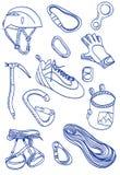 Mountain Climbing - doodle style illustration Royalty Free Stock Photography