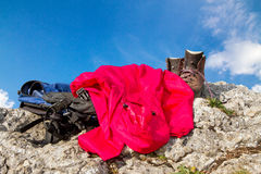 Mountain climbing Royalty Free Stock Image