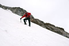 Mountain climbing on glacier Stock Image