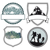 Mountain climbing icons Royalty Free Stock Photography