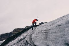 Mountain Climbing, Mountain Climber Royalty Free Stock Photography