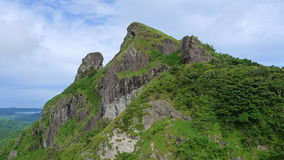 Mountain. Climbing in the Philippines stock images