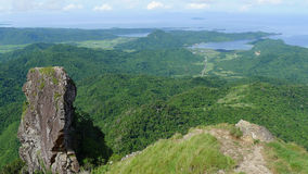 Mountain. Climbing in the Philippines royalty free stock photo