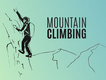 Mountain climbing poster Royalty Free Stock Image