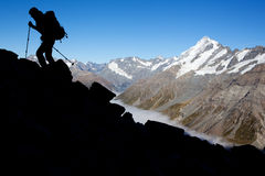 Mountain climbing Royalty Free Stock Photography