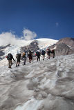 Mountain Climbing Team Stock Photos