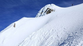 Mountain Climbing stock video footage