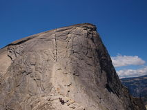 Mountain climbing in Yosemite Stock Photography