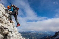 Mountain climbing Stock Photos