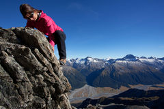 Mountain climbing Stock Image