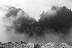 Mountain and cloud Stock Photo
