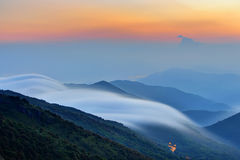 Mountain with cloud stock photos