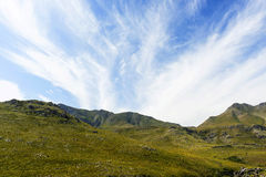Mountain and cloud landscape Stock Photography