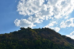 Mountain with cloudes and blue sky Royalty Free Stock Image