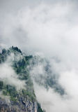 Mountain in clouds Royalty Free Stock Images