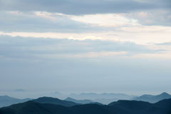 Mountain and clouds Royalty Free Stock Photo