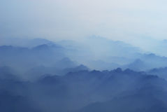 Mountain in clouds Royalty Free Stock Photos