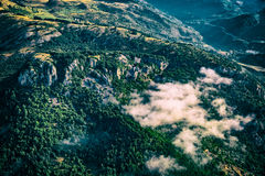 Mountain clouds aerial Stock Photos