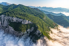 Mountain clouds aerial Royalty Free Stock Photography