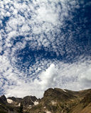 Mountain Clouds Background Stock Photo
