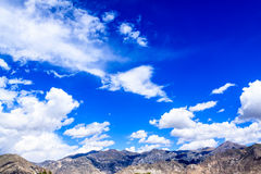 Mountain with clouds. Mountain with blue sky, tibet Royalty Free Stock Photography