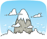 Mountain in the Clouds Royalty Free Stock Image
