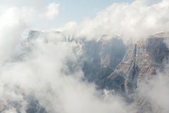 Mountain and Clouds at Drakensberg Stock Image