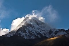 Mountain in the clouds Royalty Free Stock Images