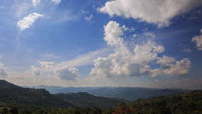 Mountain clouds stock footage