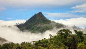 Mountain in clouds Royalty Free Stock Image