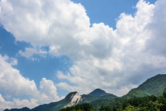 mountain and clouds Stock Photo
