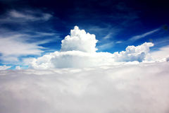 Mountain of clouds Stock Photo