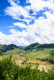 Mountain in the Clouds. On the road to Son La province, Viet nam Royalty Free Stock Photo