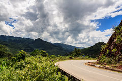 Mountain in the Clouds. On the road to Son La province, Viet nam Royalty Free Stock Photography
