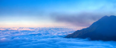 Mountain in the Clouds Royalty Free Stock Photo