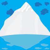 Mountain with clouds Royalty Free Stock Photos