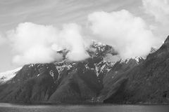 Mountain clouds on the Sognefjord, Norway Stock Photos