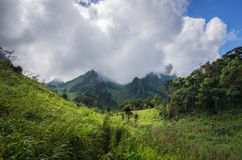 Mountain and cloudy day. Doi Luang Chiang Dao is name the mountain in Chiang Mai province of Thailand Stock Photography