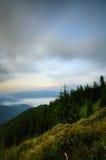 Mountain cloudy twilight Royalty Free Stock Image