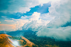 Mountain cloudy weather Royalty Free Stock Photography