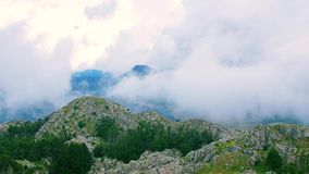 Mountain cloudy weather stock video footage