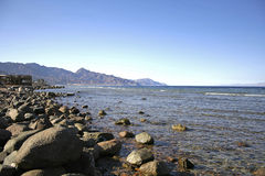 Mountain coast, red sea beach Royalty Free Stock Photos