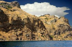 Mountain  coastline Magnetic Kara-Dag, Crimea, Russia Royalty Free Stock Photo