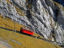 Mountain cogged railway Stock Photos
