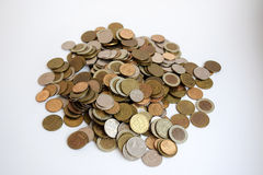 Mountain of coins Stock Image