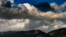 Mountain colour landscape with clouds in sky time lapse stock footage
