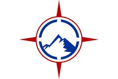 Mountain compass logo. Dsign vector dsign abstract vector dsign concept Stock Image