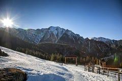 Mountain complex stock photo